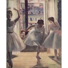 Dance Rehearsal Canvas Art - Edgar Degas (18 x 24)