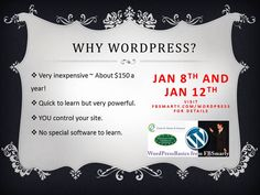 $175 for both the WordPress Seminar and Workshop - sign up at http://socialmediabymichelle.com/wordpress/