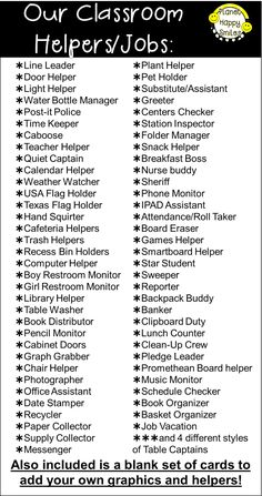 33 best Classroom Jobs images on Pinterest in 2018