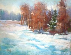 'Winter Wishes'         11x14        pastel          ©Karen Margulis available $165 Do you say Icing or frosting?  Is it a regional thin...
