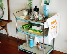 repurposed cart--Who doesn't want a bar?