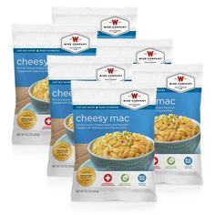 Wise Foods Disaster Preparedness Cheesy Macaroni Cook in the Pouch - 6 Pack