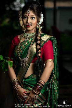 Wedding Saree and South Indian Bride Kerala Bride, Bengali Bride, South Indian Bride, Bengali Bridal Makeup, Indian Bridal Fashion, Beautiful Hijab, Beautiful Bride, Beautiful Ladies, Real Indian Girls