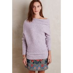 Moth Caya Draped Pullover ($138) via Polyvore featuring tops, sweaters, light mauve, purple sweater, drape top, moth sweaters, butterfly top and purple top