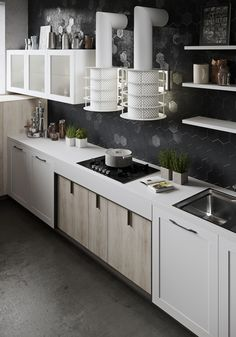 217 best contrast kitchens snaidero images contemporary kitchens rh pinterest com