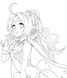 Anime girl coloring nice stunning coloring pages cute