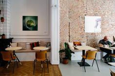 Barchel in #Antwerpen www.newplacestobe.com Brunch, Chocolate Beer, Explore Dream Discover, Antwerp Belgium, Restaurant Bar, Coffee Shop, Dining, Interior Design, Table