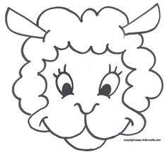 Free Printable Sheep Mask Template