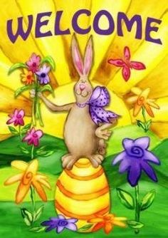 12.5 x 18 inches w Darice Happy Easter Garden Flag