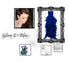 """Glam & Blue"" by lula-sagretti ❤ liked on Polyvore featuring Reem Acra, Miss Selfridge and David Tutera"