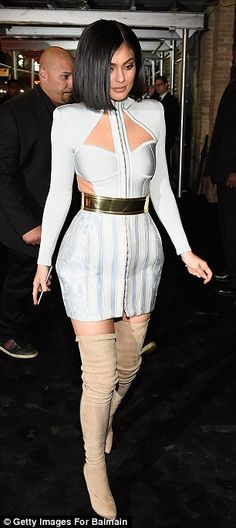 Kylie Jenner wows in cutaway mini-dress at Balmain afterparty Kylie Jenner Pictures, Kylie Jenner Outfits, Kylie Jenner Style, Kendall And Kylie Jenner, Celebrity Outfits, Celebrity Style, Kardashian Jenner, Kardashian Family, Jenner Sisters