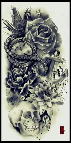 Great tattoo but without the name Harper and only with Roses