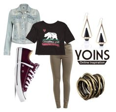 """""""California love ❤️"""" by shamelesslymaya on Polyvore featuring VILA, Billabong, Converse, women's clothing, women, female, woman, misses and juniors"""