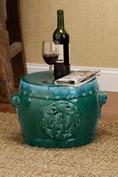 Meiyi Garden Stool - Glazed Ceramic Stools, Chinese Ceramic Stool, Outdoor Stools | Soft Surroundings