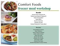 Comfort Foods Workshop - Bundle List & Recipes