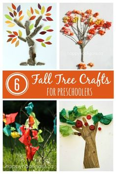 6 Fall Tree Crafts for Preschoolers - Happy Hooligans