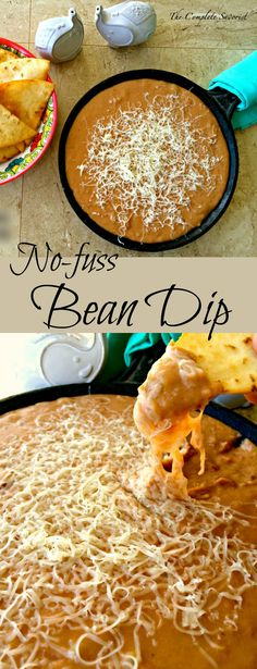 No-fuss Bean Dip ~ The easiest bean dip you could ever make and utterly delicious. ~ The Complete Savorist