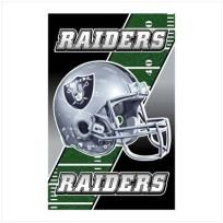 """No Raiders fan is complete without this double-duty sign! Unique design """"flips"""" between the official lettering and eye-patch logo of the famed Oakland team; magnetic back attaches instantly and securely to any metal surface. Officially licensed NF..."""