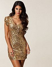 Jarna Sequins Dress - Oneness - Goud - Feestjurken - Kleding - NELLY.COM