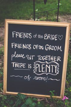 Wedding ~ Ceremony Seating Sign