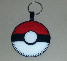 Felt Pokeball keyring