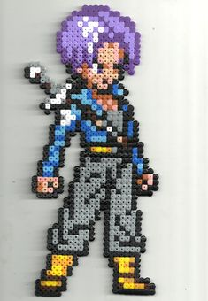 Trunks (Dragonball Z) perler beads by Pixelsior!