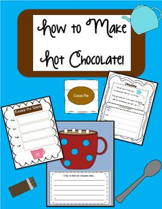 This Cozy little writing craftivity has the students go step by step beginning with writing the directions in order and drawing the materials needed to make hot chocolate. Writing prompts are included! #freeprintables #TeacherSherpa