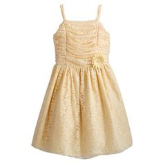 Princess Faith Ruched Lace Dress - Girls 7-16