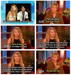 When Taylor Swift called out Joe Jonas on Ellen for breaking up with her over the phone: