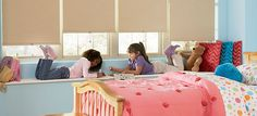 Easy to operate, with enhanced child safety––Designer Roller Shades ♦ Hunter Douglas window treatments Hunter Douglas, Roller Shades, Roller Blinds, Contemporary Window Treatments, Budget Blinds, Blinds For Windows, Window Blinds, Room Window, Home Safes