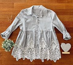 Camasa dama casual eleganta gri cu broderie alba, nasturi si maneca lunga Casual, Dresses With Sleeves, Long Sleeve, Fashion, Moda, Sleeve Dresses, La Mode, Gowns With Sleeves, Fasion