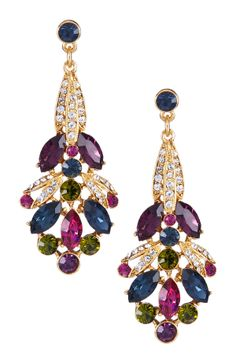 Swarovski Multicolor Drop Post Earrings... BozBuys Budget Buyers Best Brands! ejewelry & accessories...online shopping http://www.BozBuys.com