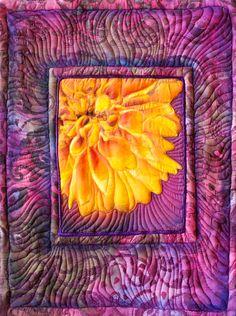 Release, Fiber Art Quilt from Helene Lohr