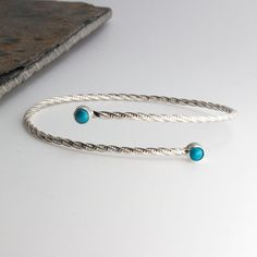 Turquoise Cuff Bracelet,Custom Bracelet,Adjustable Cuff,Statement Cuff,Oval Bracelet,Handmade Jewelry,Sterling Silver,Double Turquoise Stone by FutureArtJewelry on Etsy