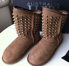 GENUINE Australia Luxe Pistol Studded Boot Chestnut Sz 4 MSRP $300 NEW 1/2 PRICE #AustraliaLuxeCollection #SnowWinter