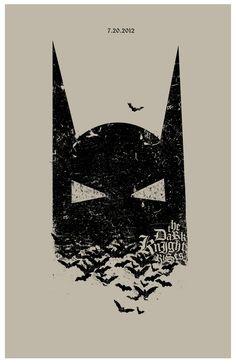 Minimal Movie Posters — The Dark Knight Rises by Adam Juresko