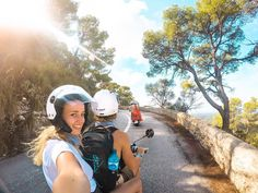 A never ending smile with our @GoPro family! #mallorca #island #spain #scooter #motorbike #blog #travel #photography #saltinourhair #gopro #hero5 #go #pro #couple