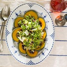 Winter Greens Salad with Squash & Cranberry Vinaigrette Recipe #HeartHealthyHoliday