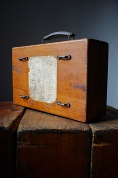Old wooden suitcase