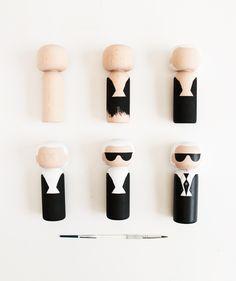 Karl Largerfeld Kokeshi Doll - Sketch.inc