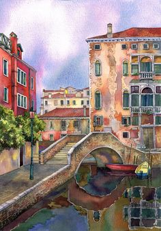 Landscapes of Italy, painting during last few years.