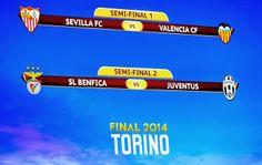 Blog Esportivo do Suiço: Semifinal da Liga Europa vai ter Juventus x Benfica e Sevilla x Valencia