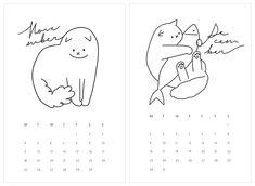 My Little Kitty 2019 캘린더 - 일러스트레이션, 일러스트레이션, 일러스트레이션 Bullet Journal Materials, Bullet Journal Art, Logo Desing, Branding Design, Character Art, Character Design, Anime Store, Little Kitty, Learn Art