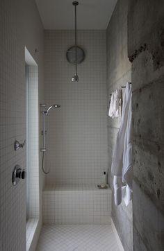 Baño gresite blanco de 5x5 cm