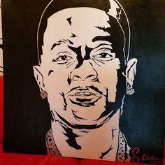 """The Struggle"" @officialboosieig 4'x4' on Wood  IF YOU WANT  A PAINTING I GOT YOU!!!!!! @StevenMichaelJohnsonArt Snap: @TheRealStevenMJ StevenMichaelJohnsonArt@gmail.com #SMJArt #Dallas #CaliArt #NYCArt #IG_Europe #Cali #BNW_Europe_Portraits #DallasArt #RawArt #Painting #sxsw #DallasArtDistrict #ModernArt #Krunkness #DallasCowboys #DfwArtist #DfwArtwork #Paint #BlackAndWhite #Acrylic #Wood #Deepellum #Portrait #creativespacestv"