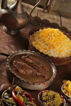 "Persian food - called ""fesenjoon"" walnuts & pomegrante stew. Heaven    فسنجون❤"