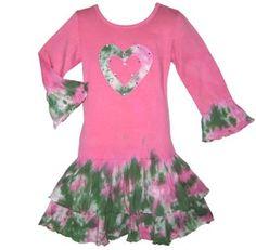 Girls Boutique Tie Dye Heart Fall Dress Kids « Clothing Impulse