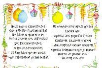 Fitxes color ordres Carnestoltes, pregó, cançó Oh Benvinguts... Laura Cuenca