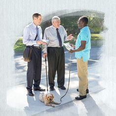 Un hermano joven predica con un hermano mayor