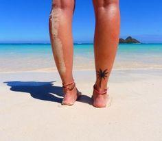 38 ideas small palm tree tattoo ankle roots for 2019 Tattoo Pied, 16 Tattoo, Tatoo Henna, Tattoo Thigh, Wrist Tattoo, Tiny Tattoo, Palm Tree Tattoo Ankle, Tree Tattoo Back, Back Of Ankle Tattoo